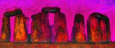 Landmark Painting - Stonehenge 220 - Pa by Leonardo Digenio