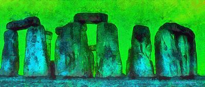Burial Grounds Painting - Stonehenge 222 - Pa by Leonardo Digenio
