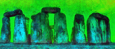 Bronze Painting - Stonehenge 222 - Pa by Leonardo Digenio