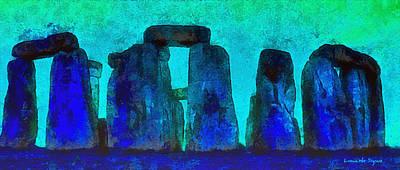 Burial Grounds Painting - Stonehenge 223 - Pa by Leonardo Digenio