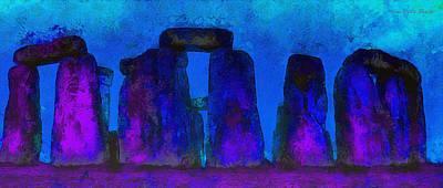 Prehistoric Painting - Stonehenge 224 - Pa by Leonardo Digenio