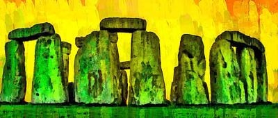 Countries Digital Art - Stonehenge 240 - Da by Leonardo Digenio