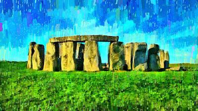Prehistoric Painting - Stonehenge 3 - Pa by Leonardo Digenio
