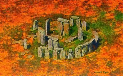 Burial Grounds Painting - Stonehenge 400 - Pa by Leonardo Digenio