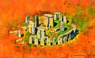 Burial Grounds Painting - Stonehenge 401 - Pa by Leonardo Digenio