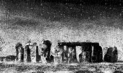 Digital Art - Stonehenge At Dusk by Kiki Art
