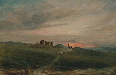 Stonehenge Painting - Stonehenge At Sunset by John Constable
