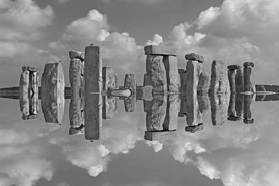 Worship God Photograph - Stonehenge Bw by Betsy Knapp