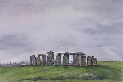 Stonehenge  Art Print by Debbie Homewood