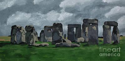 Henge Painting - Stonehenge by Ellen Nicole Allen