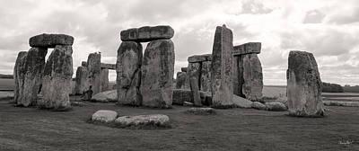 Photograph - Stonehenge England-black And White by Shanna Hyatt