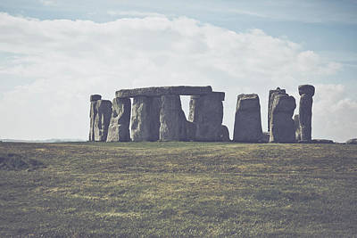 Megalith Photograph - Stonehenge In England With Vintage Filter by Brandon Bourdages