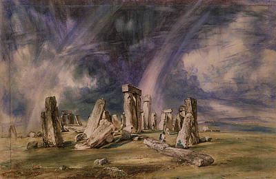 Stonehenge Art Print by John Constable
