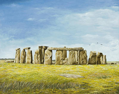 Painting - Stonehenge by Mary Ann King