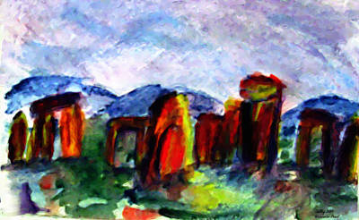 Painting - Stonehenge Morning by Shelley Bain