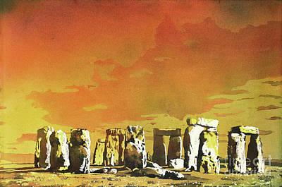 Painting - Stonehenge Ruins by Ryan Fox
