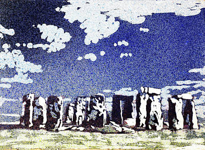 Painting - Stonehenge Ruins- Uk by Ryan Fox