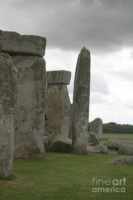Photograph - Stonehenge Side Pillars by Mary Mikawoz