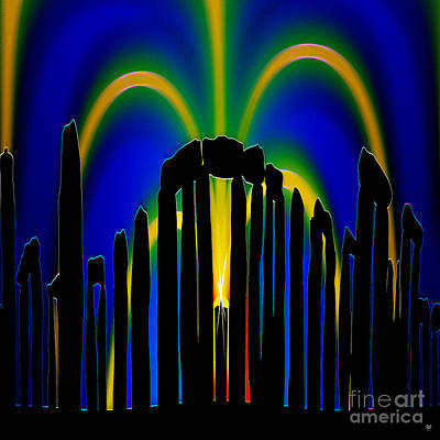 Midsummer Eve Painting - Stonehenge Solstice 2 by Neil Finnemore