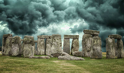 Megalith Photograph - Stonehenge Storms by Martin Newman