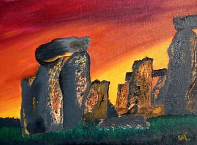 Stonehenge Sunrise Art Print by Warren Thompson