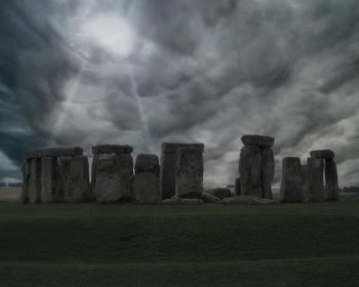 Landmark Digital Art - Stonehenge  by Super Lovely