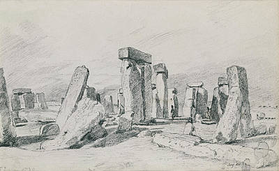 John Constable Drawing - Stonehenge Wiltshire by John Constable
