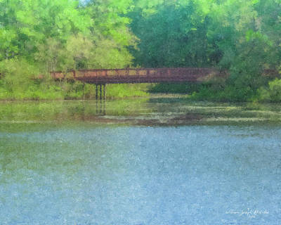 Painting - Stonehill College Footbridge by Bill McEntee