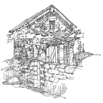 Drawing - Stonehouse by Andrew Drozdowicz