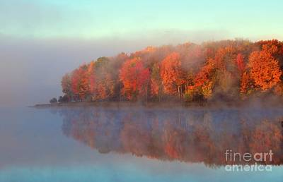Stoneledge Lake Pristine Beauty In The Fog Art Print by Terri Gostola