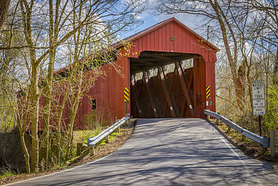 Music Royalty-Free and Rights-Managed Images - Stonelick Covered Bridge by Jack R Perry