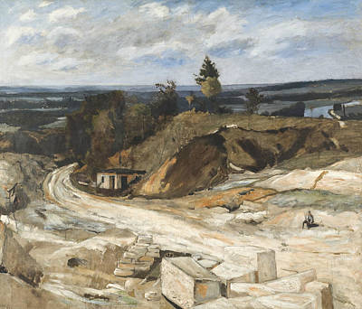 Painting - Stonequarry By The River Oise II by Carl Fredrik Hill