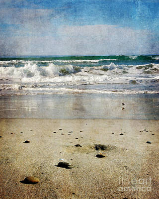 Stones Along The Shore Art Print by Laura Iverson