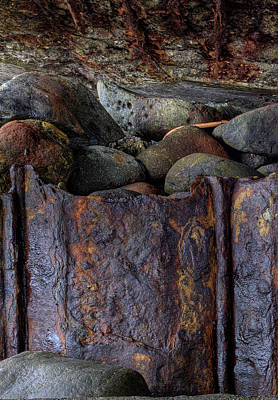 Art Print featuring the photograph Rusted Stones 1 by Steve Siri