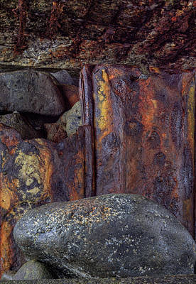 Art Print featuring the photograph Rusted Stones 2 by Steve Siri