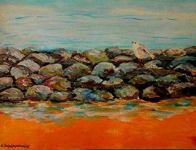 Painting - Stones by Constantinos Charalampopoulos