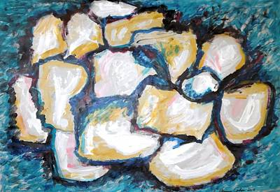 Painting - Stones In Abstract by Esther Newman-Cohen