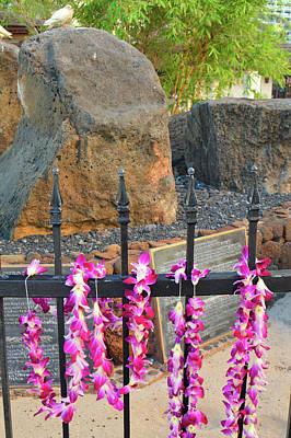 Photograph - stones of kapaemahu, Waikiki by James Kirkikis