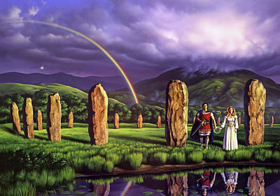 England Wall Art - Painting - Stones Of Years by Jerry LoFaro