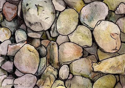 Drawing - Stones by Shana Rowe Jackson
