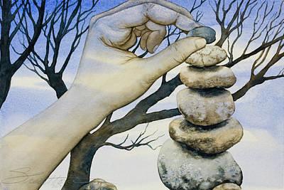 Stones Art Print by Sheri Howe