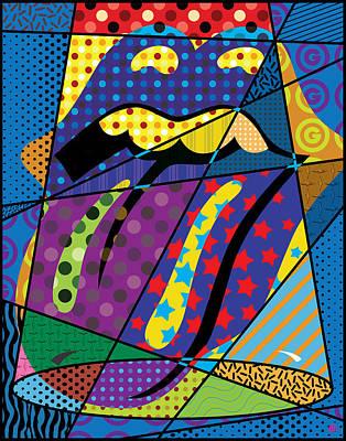 Vector Painting - Stones Spotlight by Gary Grayson