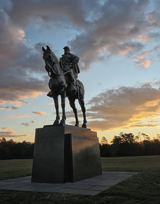 Photograph - Stonewall Jackson At Sunrise by Jack Nevitt