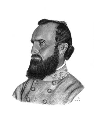 Stonewall Jackson Drawing - Stonewall Jackson by Charles Vogan