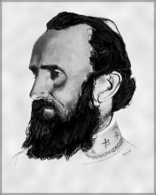 Stonewall Jackson Drawing - Stonewall Jackson by Ryan Glick