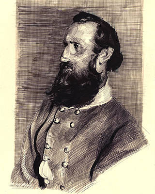 Stonewall Jackson Drawing - Stonewall by Kris Phero