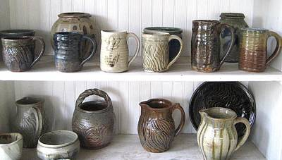 Stoneware Cups Print by Stephen Hawks