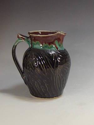 Ceramic Art - Stoneware Pitcher by Stephen Hawks