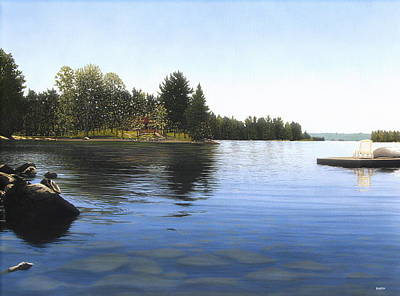 Painting - Stoney Lake by Kenneth M  Kirsch