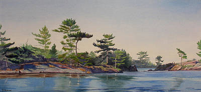Stoney Lake Morning Art Print by Debbie Homewood